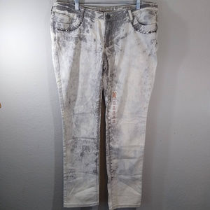 NWOT Decree Gray Stone Washed Super Skinny Jeans